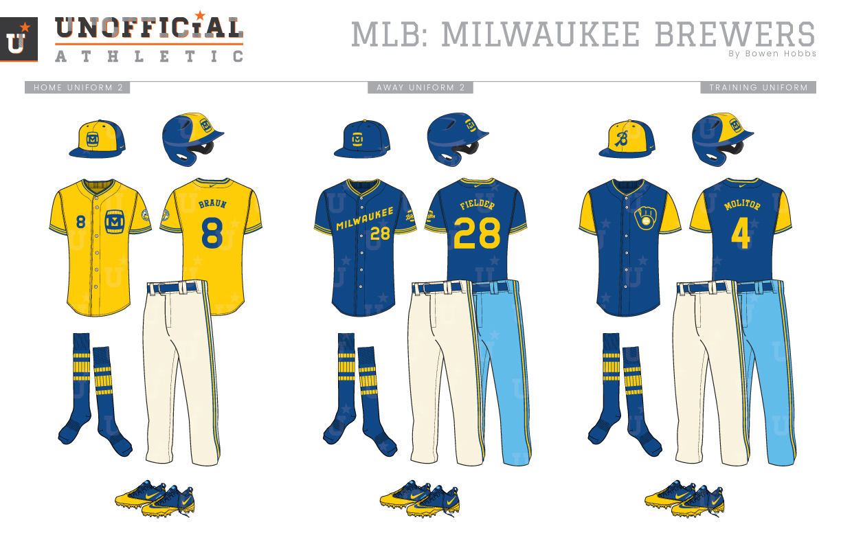 sneakers for cheap 3e3e7 73d9d UNOFFICiAL ATHLETIC | Milwaukee Brewers Rebrand