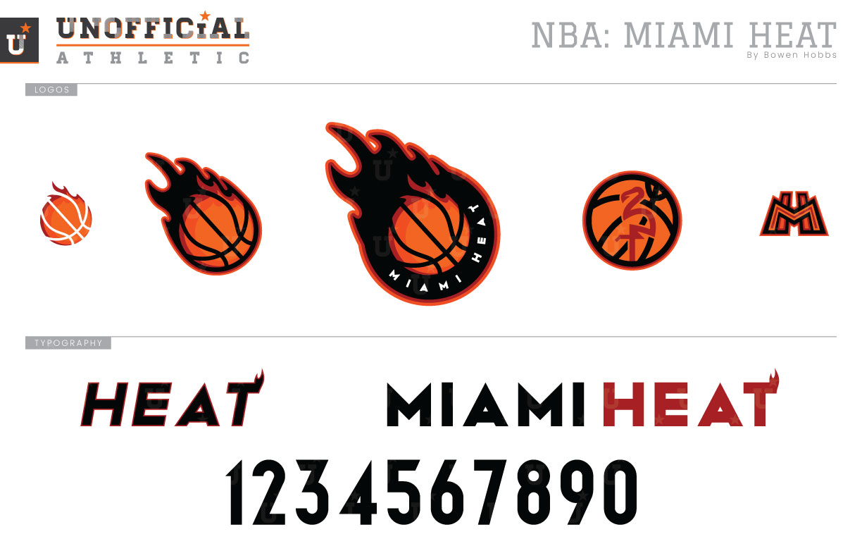 Unofficial Athletic Miami Heat Rebrand