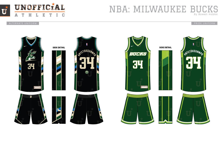 buy popular 0c4b7 db16d UNOFFICiAL ATHLETIC | Milwaukee Bucks Rebrand