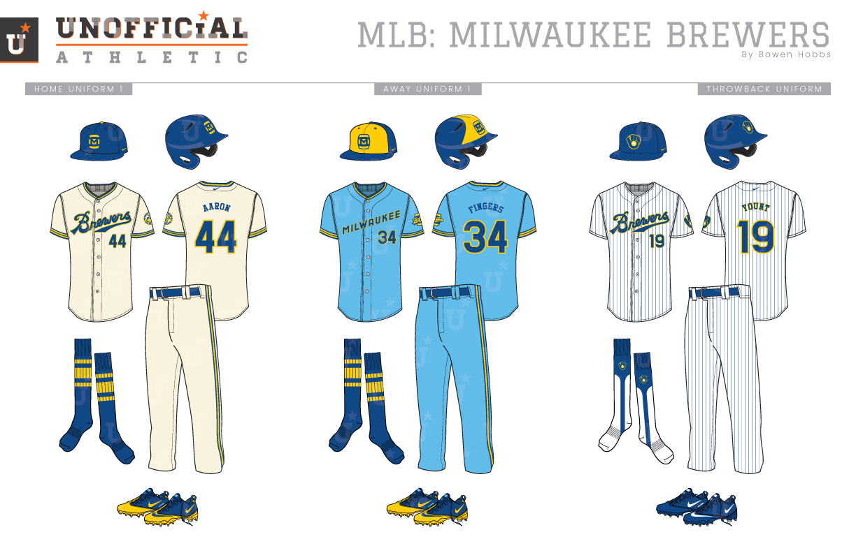 sneakers for cheap 22ca0 f0cca UNOFFICiAL ATHLETIC | Milwaukee Brewers Rebrand