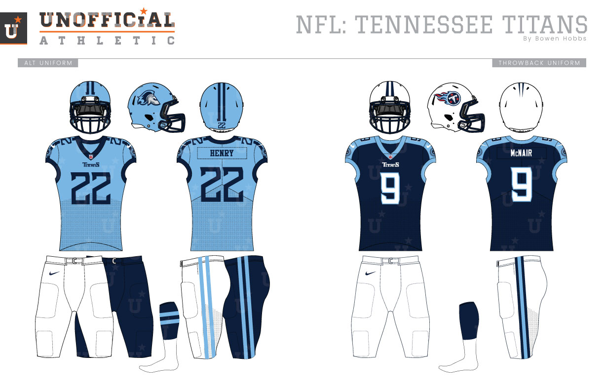 Unofficial Athletic Tennessee Titans Rebrand
