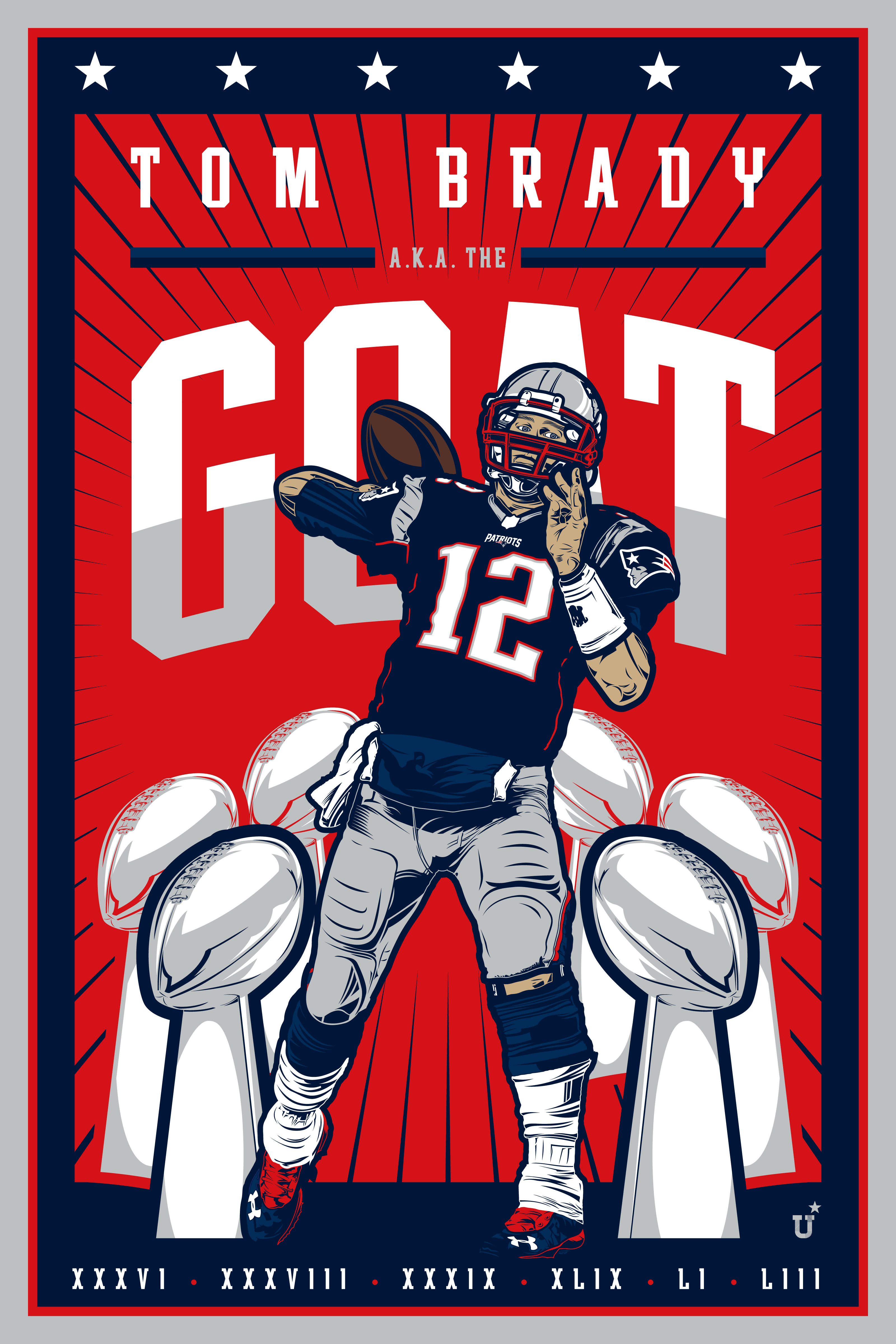 442dfb6a366ba UNOFFICiAL ATHLETIC | Tom Brady Poster Design