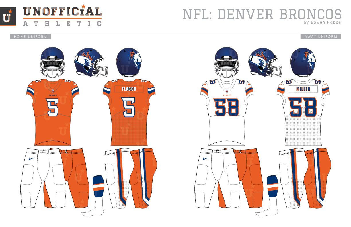 new concept 2ae01 80b35 UNOFFICiAL ATHLETIC | Denver Broncos Rebrand