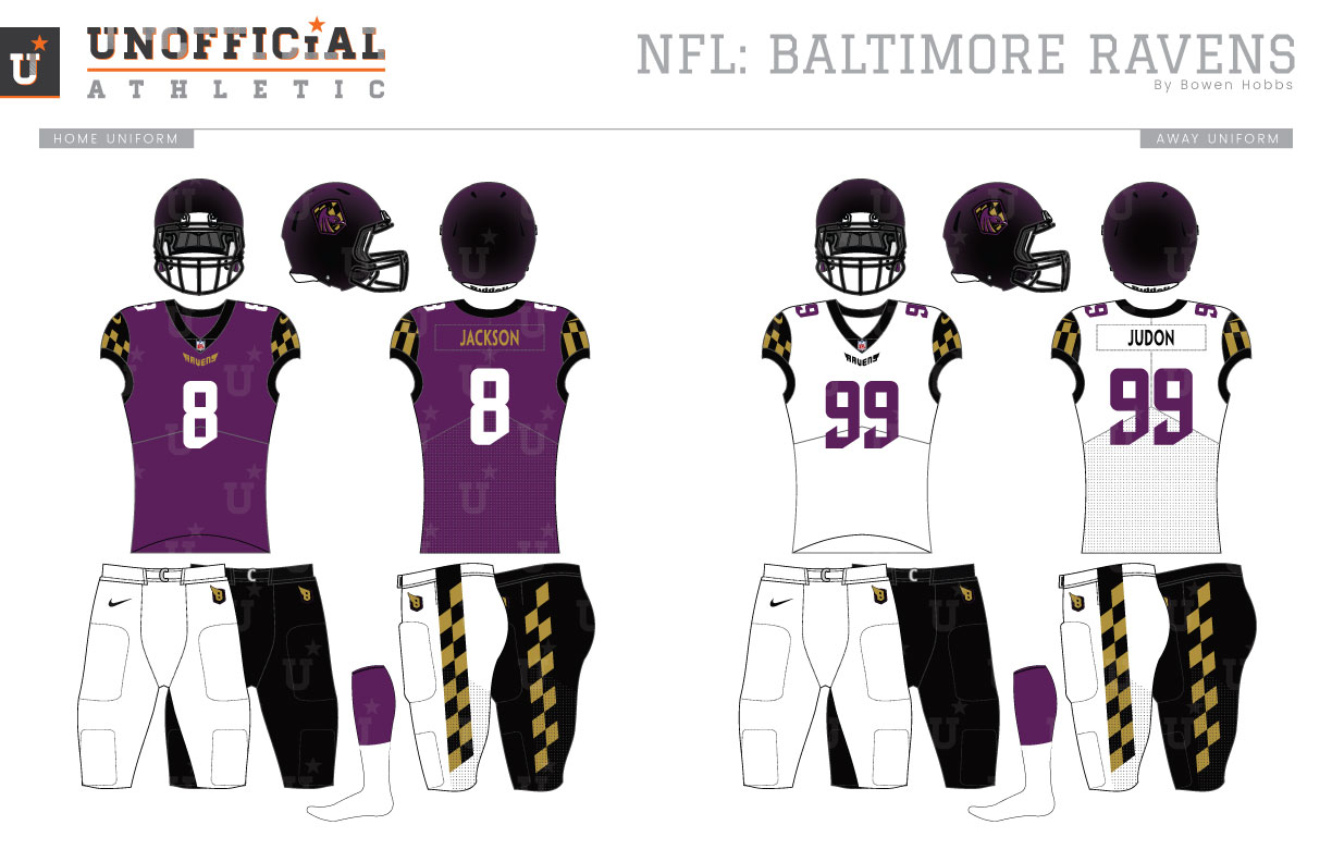 Unofficial Athletic Baltimore Ravens Rebrand